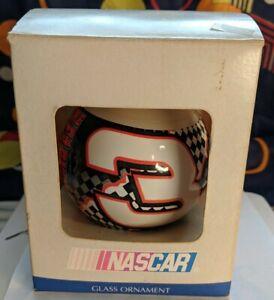 NASCAR-Dale-Earnhardt-SR-The-Intimidator-3-glass-ball-ornament-2000-Ensemble-Co