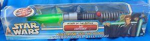 Hasbro Star Wars Attaque Des Clones Sabre Laser Électrique Jedi Vert Mip Mib