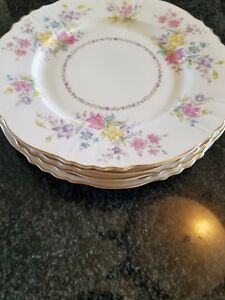 Syracuse China Briarcliff Set Of 5 Dinner Plates 9 75 Inches Antique