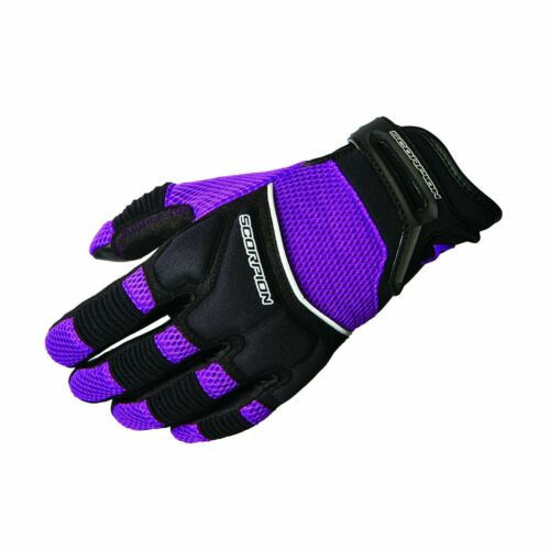 Size XL Purple Scorpion Womens CoolHand II Short Cuff Mesh Motorcycle Gloves