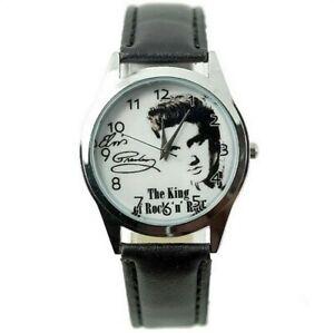 Montre à quartz NEUVE Bracelet Cuir ! ( Watch ) - Elvis Presley ( Ref 3 )