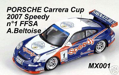 Porsche 911 997 gt3 cup 07 speedy Beltoise 1 43 spark