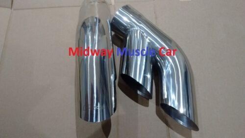"75-81 Pontiac Trans AM Firebird 3.0/"" stainless exhaust tail pipe tip splitters"