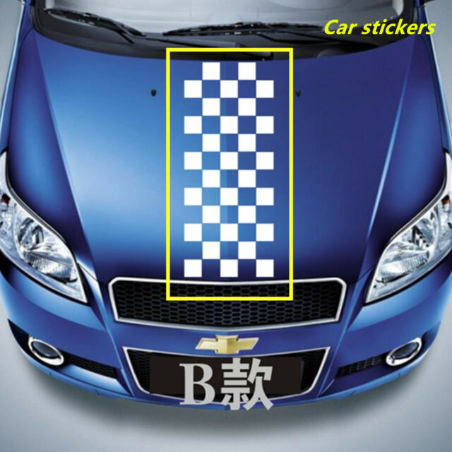 Black & White Checkered Racing Chequered Flag Styling Decal Vinyl For Car Auto