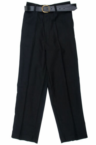 "Ragazzi robusto Fit School Uniform Pantaloni grigio-nero-blu scuro vita 22-40/"" UK"