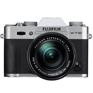 Fujifilm-X-T10-16-3MP-Digital-Camera-Silver-16-50mm-II-Lens-CR-MINT
