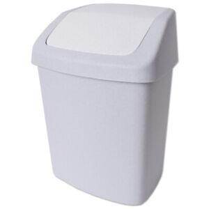 Details zu Curver Mülleimer Abfalleimer Abfallbehälter Schwingdeckel Badezimmer 15L Neu