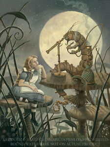 Image Is Loading The Caterpillar Alice In Wonderland LARGE Giclee Art