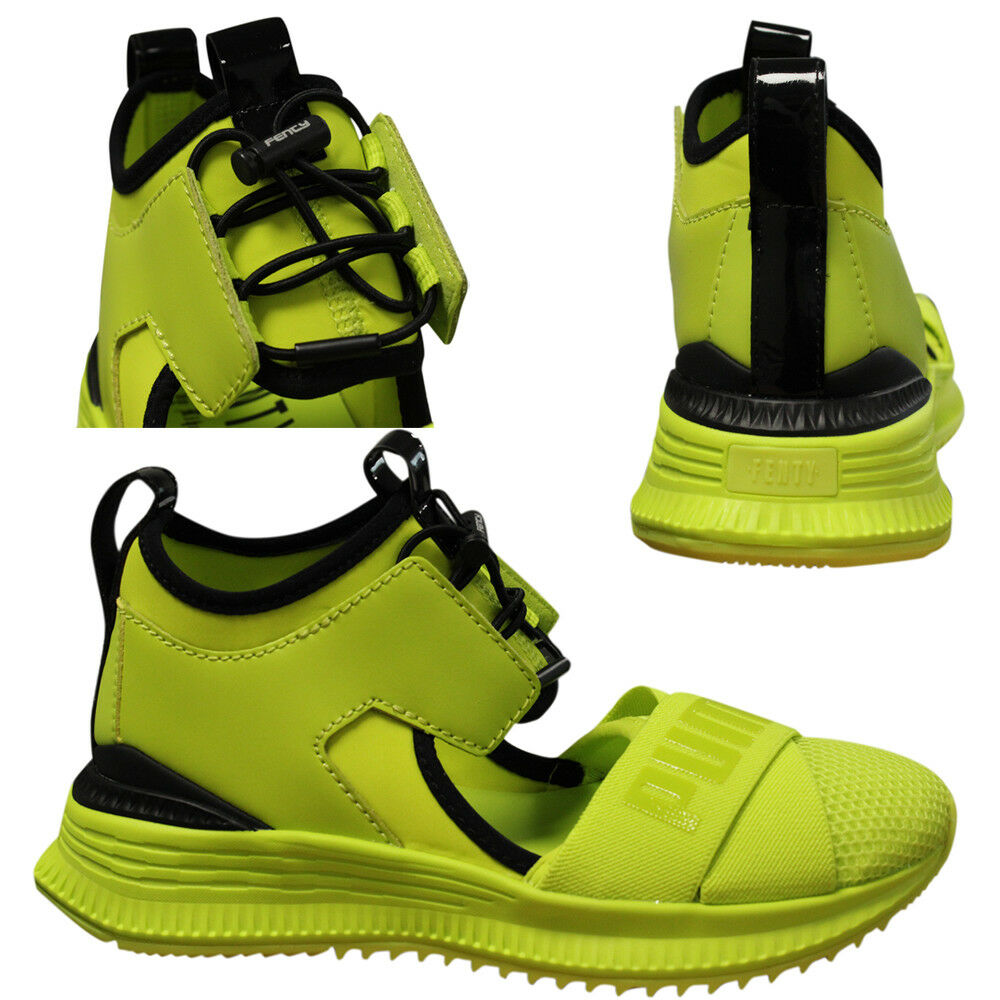 Puma x Fenty by Rihanna Avid Womens Lime Lace Up Trainers 367683 03 Q2