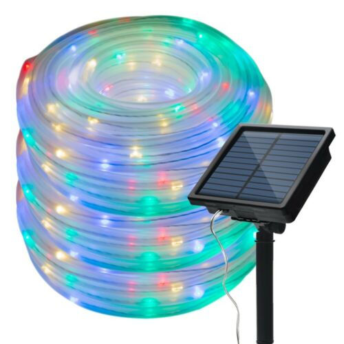 10//20M SOLAR POWER ROPE FAIRY LED LIGHTS LAMPS OUTDOOR XMAS GARDEN PARTY DECOR