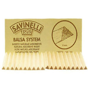 1-Pack-20-Savinelli-Dry-System-6mm-Balsa-Filter-Inserts-for-Pipes-2321