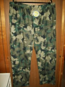 NEW-MEN-039-S-STAFFORD-MICROFLEECE-DRAWSTRING-PAJAMA-PANTS-SZ-2XL-CAMO-DEER-BEAR