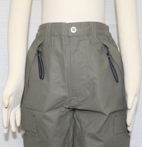 JACADI Boy/'s Tertio Army Green Elastic Waist Cargo Shorts Size 2 Years NWT $46