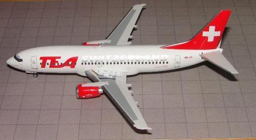 TEA Switzerland Switzerland Switzerland B-737-300 (HB-IIA) Lim. 150   Selten Rar d2733a