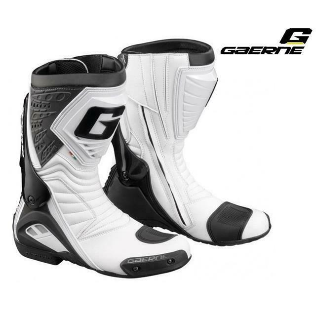 Boots Gaerne G-Rw 2406 White Size 44 Sport Upper Microfiber Motorcycle