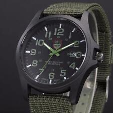 Belle Montre Militaire Quartz Homme Sport Bracelet Tissu Date Automatique PROMO