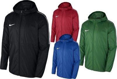 Nike Mens Dry Park18 Rain Coat Jacket Hoodie Waterproof Windproof Wind Breaker | eBay