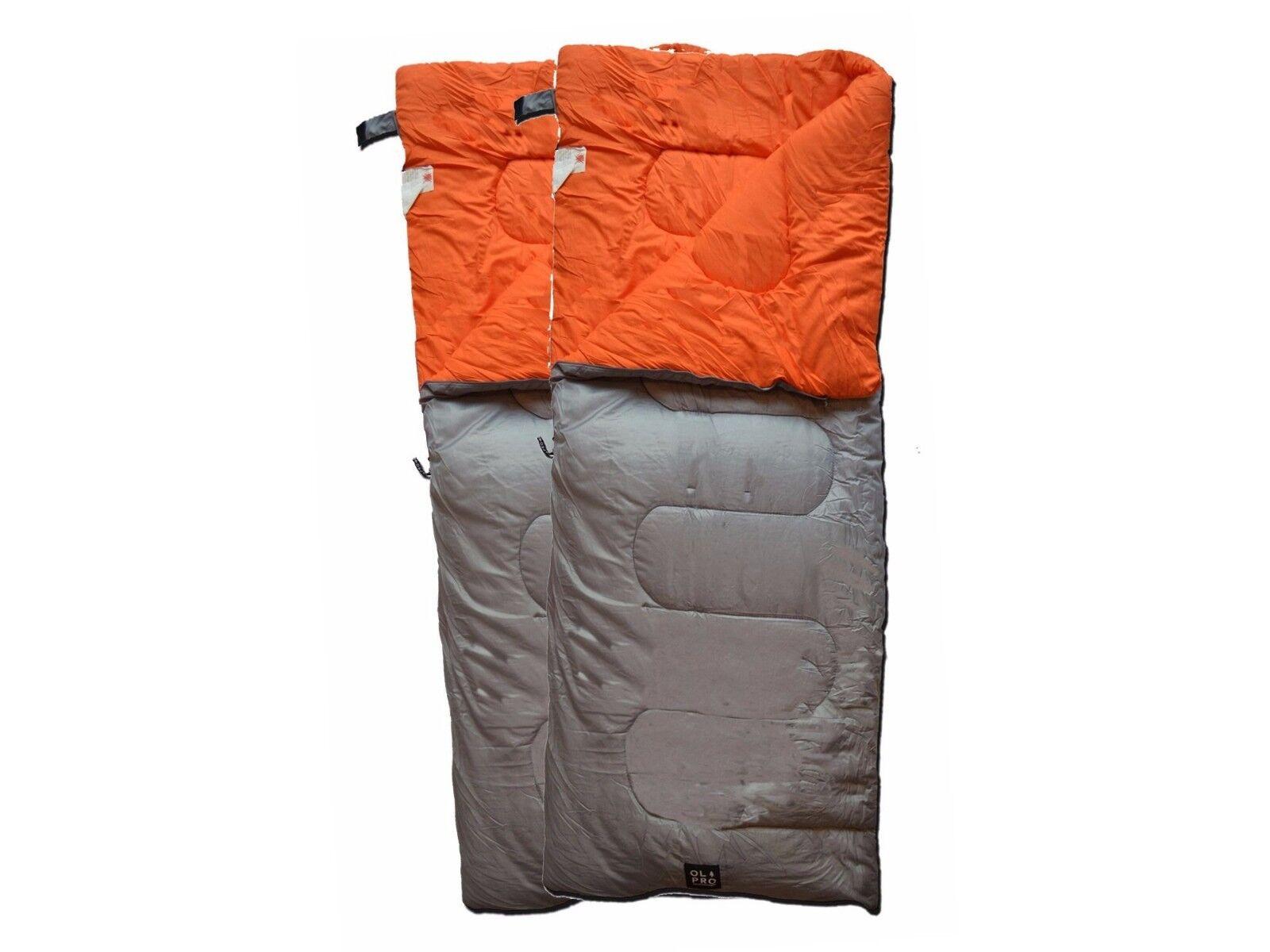 DOUBLE SLEEPING BAG 3 SEASON 300GSM FILL - 2x OLPRO HUSH (PLAIN)