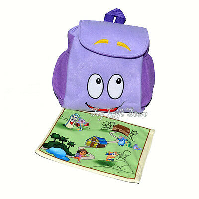 Dora the Explorer PLUSH Backpack Child Pre School Toddler Bag & MAP