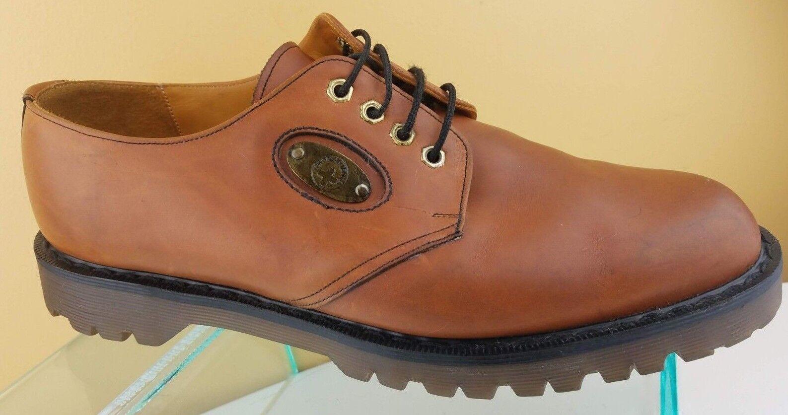 Dr. Martens Cognac Brown Leather Oxford Lace Up Dress shoes Mens Sz 12 England