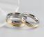 Anello-Anelli-Coppia-Fedi-Fede-Fedine-Fidanzamento-Nuziali-Cristallo-Oro-Fascia miniatura 3