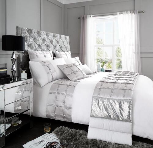 Luxury Duvet Cover Set Double Super King Size Bedding Quilt Bed Black Silver etc
