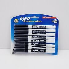 Expo Dry Erase Markers Black Intense Colors With Low Odor Ink Fine Tip 8 Pack
