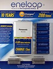 Panasonic Eneloop Rechargeable Battery Kit w/8AA, 4AAA Plus Charger|NO SALES TAX