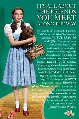 The Wizard Of Oz Movie Poster Dorothy Toto Full Size Wizard Of Oz Quotes Ebay