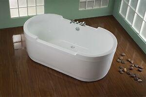freistehende badewanne kentucky ws 180 x 90 cm inkl armaturen und abfluss ebay. Black Bedroom Furniture Sets. Home Design Ideas