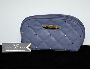 Image is loading Versace-19v69-Italia-Cosmetic-Bag-NWT-Quilted-with- e91be582df335