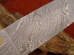 Damast Klinge.Küchen Messer Damascus Blank NEUE Maserung.