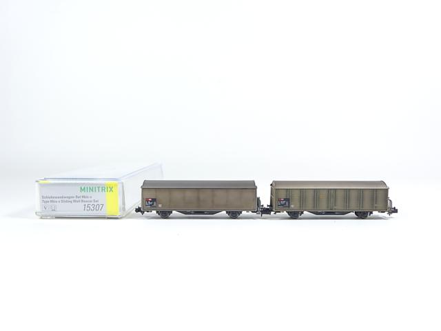 Minitrix N 15307, Schiebewandwagen-Set Hbis-v, SBB, neu, OVP