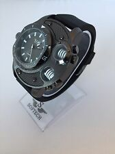 F&MJ729 Black Mens Watches Gents Designer Softech Quartz Wrist Watch Retro