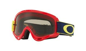 e0f2a98f978 Oakley XS O-Frame MX Checked Finish Goggles Blue Orange w  Dark Gray ...