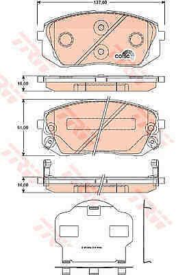 Comline Front Brake Pad Set CBP31768 BRAND NEW 5 YEAR WARRANTY GENUINE