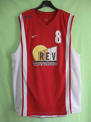 Maillot Cholet Basket Nike Basketball vintage Jersey Porté #8 Verandas REV XL | eBay