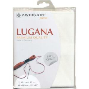 Zweigart-Precut-PREMIUM-Lugana-EVENWEAVE-Cross-Stitch-Fabric-WHITE-19-x-27-25ct