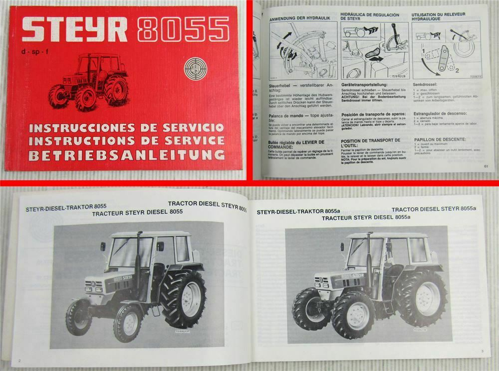 Teileverzeichnis Dreizylinder Diesel-Traktor Typ 190 STEYR