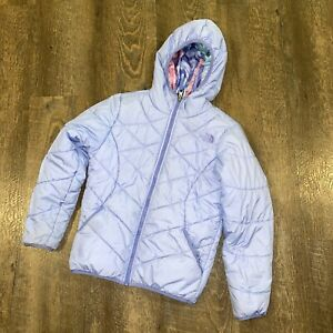The North Face Girls Down Reversible Hooded Winter Jacket Size 10/12