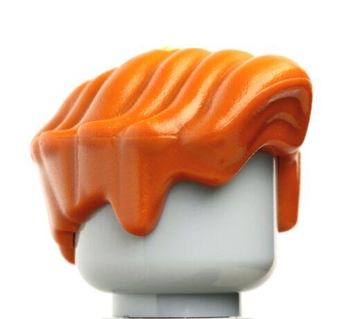 Figure Hair NEW LEGO Male Wavy Dark Orange  x 1 Professor Remus Lupin