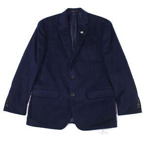 Lauren by Ralph Lauren Mens Blazer Blue Size 38 Short Linen Notched $295 117