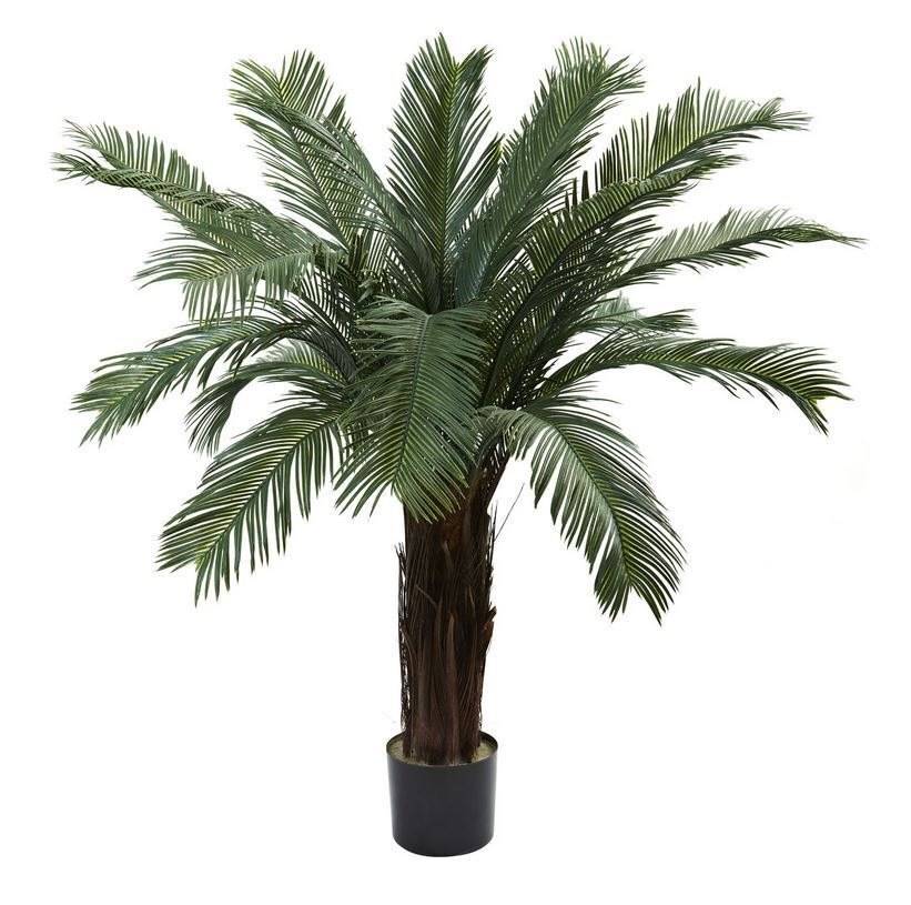 4 ft. Cycas Palm Pool Patio Home Office Shade Tree UV Resistant (Indoor Outdoor)