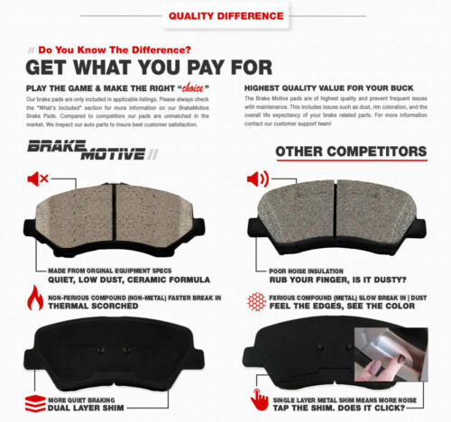 For 2016 2017 2018 Mazda CX-9 GS-L GS GT Sport Front and Rear Ceramic Brake Pads