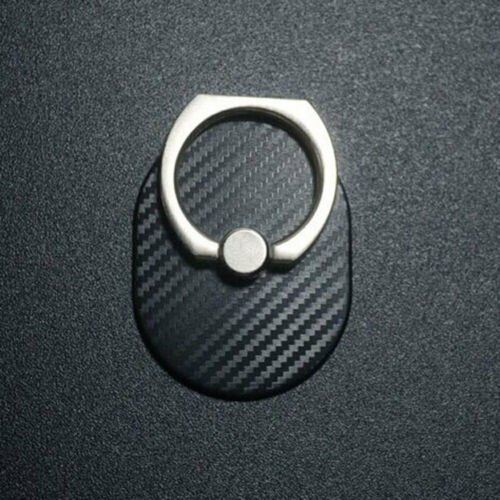 F9E1 Ring Finger Grip Fashionable Mobile Phone Stand Car Mounts Carbon Fibre