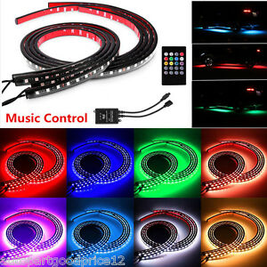 Car Headlight Bulbs(led) Automobiles & Motorcycles Rgb Led Strip Under Car Tube Underbody Underglow Glow System Neon Light Remote