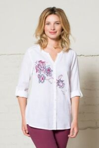 85-OFF-SALE-Nomads-Embroidered-Boho-Style-Cotton-Shirt-EN45-Fair-Trade