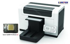 New A3+ DTG T-Shirt Printer Fabric Garment 35cmx45cm Epson Heads+Ink+RIP,CMYK+W