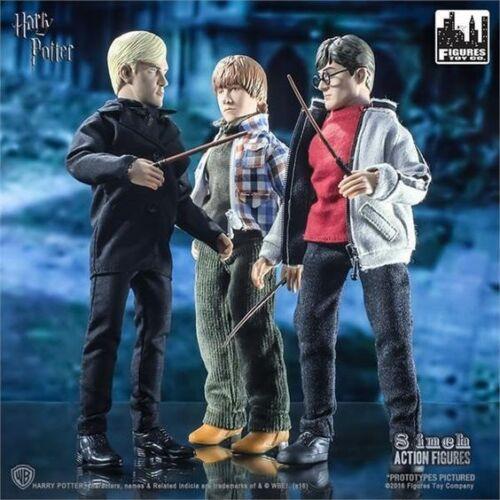 """Harry Potter Ron Weasley Draco Malfoy Retro 8/"""" Action Figure Set MEGO stile MOC"""