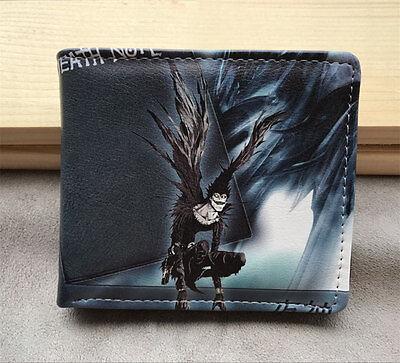 Death Note Leather pu Wallet ID Card Wallet Man Women Short Purses